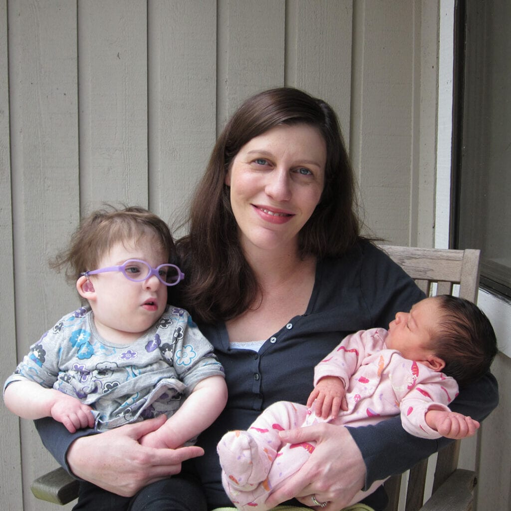 Fertility nurse with two daughters, one with birth defects