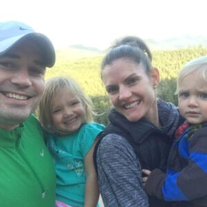 Dr. Kevin Ostrowski, Seattle urologist, with wife and 2 kids