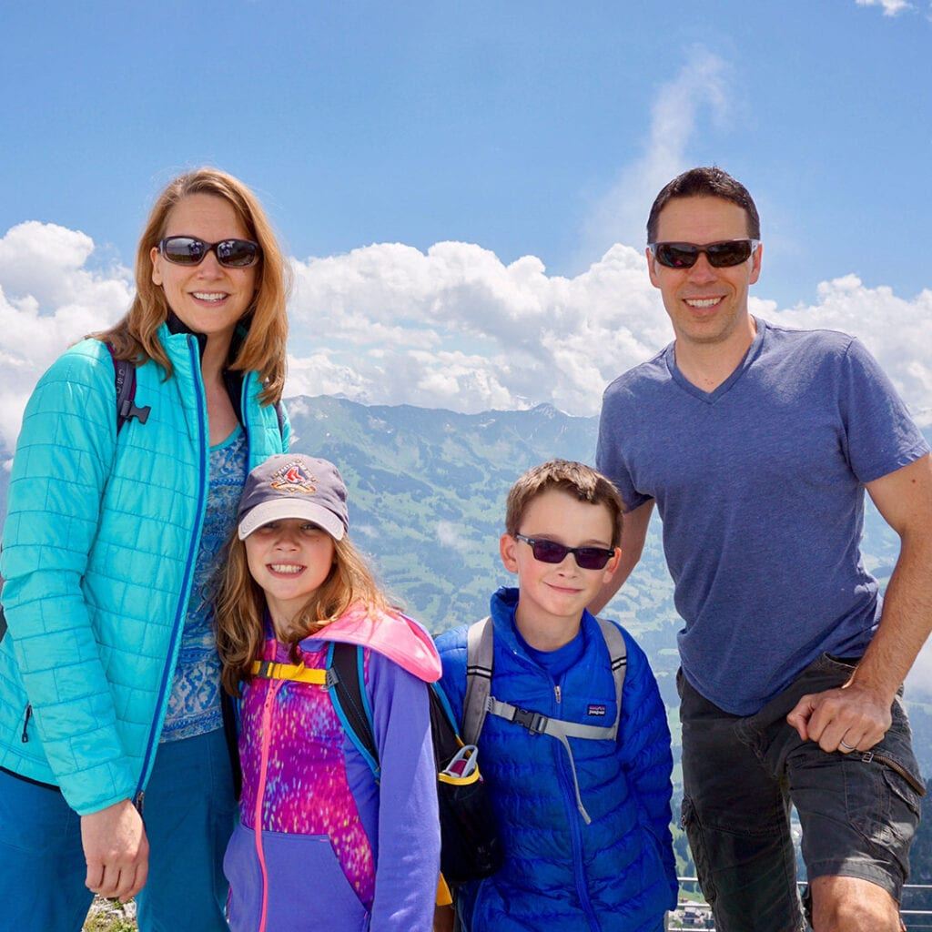 Seattle fertility specialist, Dr. Lynn Davis, hiking with husband and 2 kids