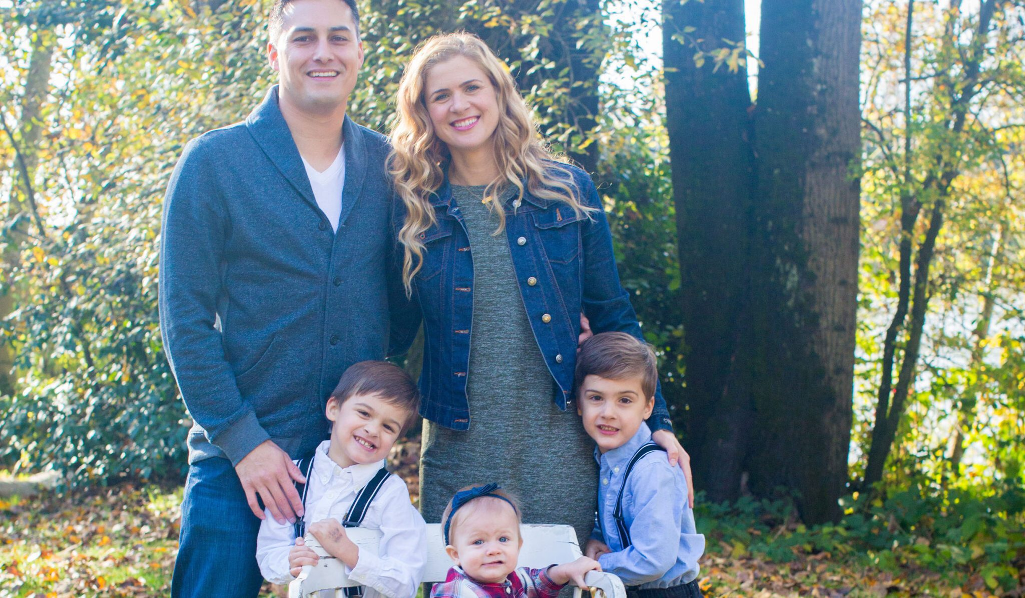 family with three children through IVF