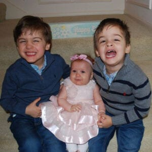 twins and baby born through IVF
